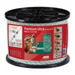 Premium Ultra schrikkoord wit/groen 5.5mm 400m