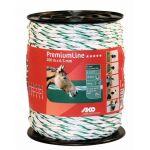 PremiumLine schrikkoord wit/groen 6.5mm - 200m