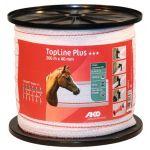 TopLine Plus schriklint wit/rood 2cm 200m