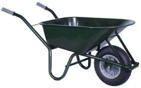 Bouwkruiwagen staal groen