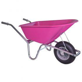 Roze kruiwagen